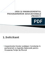 Proiectarea si managementul proiectelor educationale