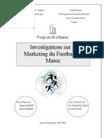 Investigations Sur Le Marketing Du Football Au Maroc