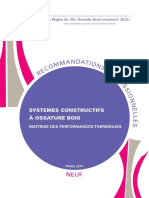 Recommandation Pro Rage Systemes Constructifs Ossature Bois 2013 03