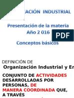 Conceptos Básicos de organizacion industrial !