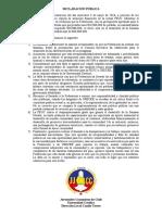 DECLARACIÓN PÚBLICA JJ.CC. UC Sobre problema financiero de la FEUC