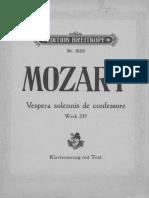Mozart - Vesperae Solennes de Confessore K. 339