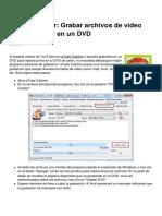 Atube Catcher Grabar Archivos de Video Mp4 Avi Wmv en Un Dvd 6403 Ljvarj