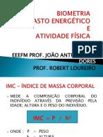 Biometria, Gasto Energético e Atividade Física - e. Fundamental - 6º,7º; 7as e 8º Anos