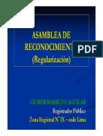 Asamblea de Regularizacion