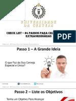 Check List - 4 Passos Para Criar Receitas Extraordinárias
