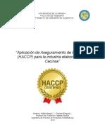 Informe embutidos HACCP