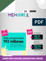 Memoria ANII 2015