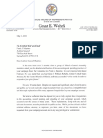 Illinois GOP lawmakers letter to Auditor General Frank Mautino - May 5