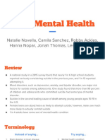 teen mental health presentation
