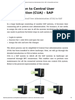 Introduction to Central User Administration (CUA) – SAP – All About Web and Cloud