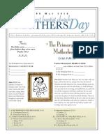 Mothers Day Luke 8-49-56 Handout 050816