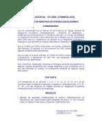 RESOLUCION 131-2004