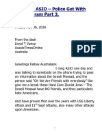 Australia ASIO - Police Get With the Program Part 3.