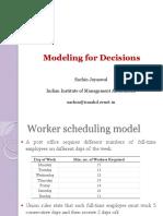 Worker Scheduling
