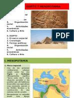 Egipto y mesopotamia