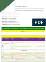 Planejamento de Estudos 2012