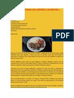 Carne Sancochada Con Cebolla y Aceitunas