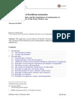 Euclidian Aximatics