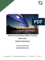 PFC Nauru Training Notes - Phase 1