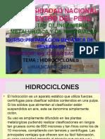 Operacion de Los Hidrociclone