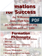 Jenks High School formations