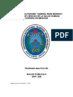Salud Publica II Sap200