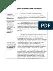 report on progress of professional portfolio - nfdn 2005