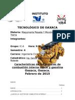 Caracteristicas Básicas de Los Motores Diesel y Gasolina