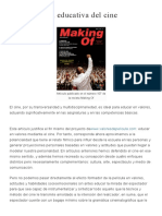 La Dimension Educativa Del Cine (Making Off)