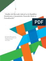 Análisis del Mercado Laboral en la República Dominicana y Lineamientos Generales hacia su Formalización