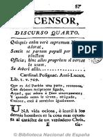 El Censor (Madrid. 1781). No. 4