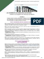 LEI ORGÂNICA DO MUNICÍPIO DE NITERÓI - Legislação Municipal Consolidada - Consolidação de Legislação Municipal.pdf