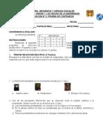 CLASE 08 - 8° BASICO - UNIDAD 1 - PRUEBA DE CONTENIDOS (EVALUACION N° 2) FORMA A nee