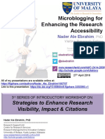 Microblogging for Enhancing the Research Accessibility