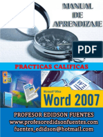 Guia Practica Calificadas de Microsfot Word 2007 Completa 2016-1b Tecnologia Medica