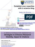 Establish your expertise with a science blog