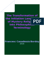 2016 F Casadesús the Transformation of the Initiation Language of Mystery Religions Into Philosophical Terminology
