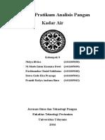 Laporan Pratikum Analisis Pangan Kadar Air I
