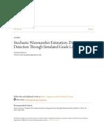 Stochastic Wavenumber Estimation- Damage Detection Through Simula