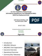Iwo Jima Amphibious Ready Group/24TH Marine Expeditionary Unit (IWOARG/24 MEU) NDIA Post-Deployment Brief