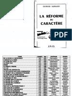 Barbarin Georges - La Réforme Du Caractère