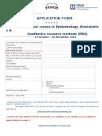 EBQ 2016 Application Form