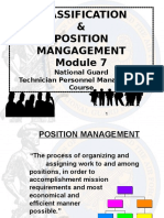 Classification Position Mgmnt