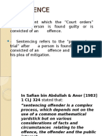 Criminal Law II (Sentencing)