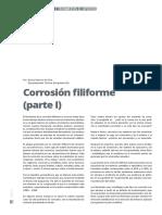 Corrosión Filiforme Parte I