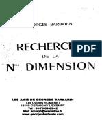 Barbarin Georges - Recherche de La Nme Dimension