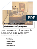 Writing Effective Statement of Purpose