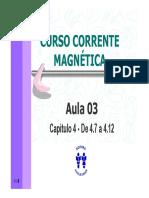 Curso Corrente Magnetica - Aula 03 - Cap 04 de 4.7 a 4.12 (8p)