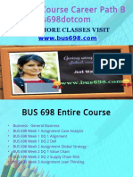 BUS 698 Course Career Path Begins Bus698dotcom
